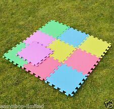 20 Piece Eva Interlocking Soft Foam Kids Baby Activity Play Mat Set Tiles Floor