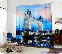 3D London View Blockout Photo Curtain Printing Curtains Drapes Fabric Window AU
