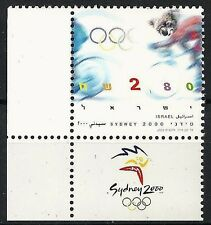 Israel 2000 Stamp SYDNEY OLYMPIC GAMES 2000. MNH + LEFT TAB. (Nice).