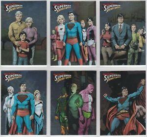 2013 Cryptozoic DC Superman: The Legend Complete (6) Card Secret Origins Set