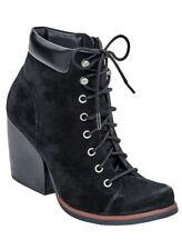 New KORKS Black SANDY Lace-Up Boots 8 M $140 KORK EASE NIB
