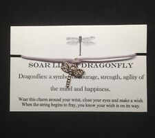 Soar like a Dragonfly Handmade Wish Bracelet Wicca Unique Pagan Gift Charm Party