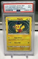 POKEMON PSA 9 MINT SPECIAL DELIVERY PIKACHU 2020 BLACK STAR SWSH074 W/ SWIRL