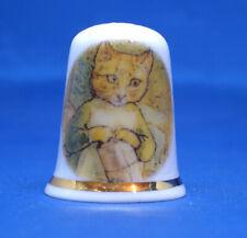 Birchcroft China Thimble -- Beatrix Potter - Ginger Cat -- Free Box