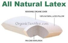 Natural Talalay Latex Pillow w/ Organic Cotton Cover - STANDARD