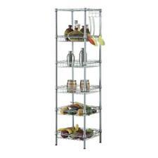 6 Tier Metal Storage Rack Shelves Wire Kichen Bedroom Organizer Space Saving