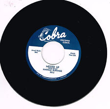 HAROLD BURRAGE - MESSED UP / I DON'T CARE WHO KNOWS (Hot 50s Blues Guitar STROLL