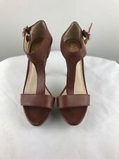 Vince Camuto Strappy Heels Brown Gold 7m/37