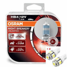 HB4 OSRAM Nightbreaker Unlimited - 2 free LED T10/W5W
