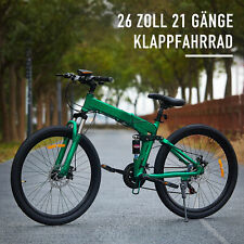 26 MTB Mountainbike Zoll Faltrad Klapprad 21-Gang-Fahrrad mit Vollfederung