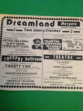 K3-3 Ephemera 1974 Advert Margate Dreamland Barry Mcguire Straw Dogs Yakety Yak