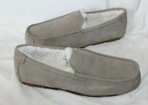 NIB UGG Koolaburra Men's Suede Fur Slippers Light Gray 10 11 12 13