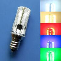 E12 Candelabra C7 64 3014 SMD LED Light Bulb Lamp Red/Blue/Green/Warm/White 110V