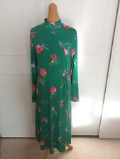 Stunning Warehouse Midi Dress Size 16 Spring Long Sleeve High Neck Floral...