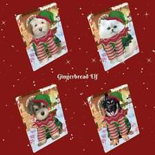 Christmas Gingerbread Elf Dog Cat Pet Photo Lovers Small Mini Magnet