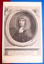 Eau forte, Portrait d'aristocrate, Philippe Kiliam, Ecole française du XVIIe