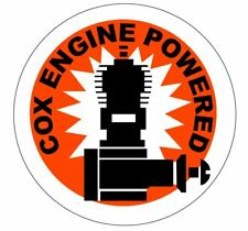 Cox .049 Engine Powered Airplane Decal Logo (Reproduction) 049