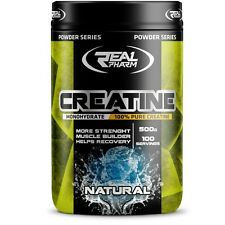 Real Pharm Pure Creatine Monohydrate Powder 500g - 100 Servings Muscle Gain