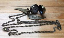 Pretty Vintage Style Golden Snitch Necklace/With Clock/Harry Potter/Retro/Quartz