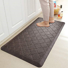 DEXI Kitchen Rugs and Mats Cushioned Anti Fatigue Comfort Mat 18x29+18x29,Grey 2//5Inch Waterproof Non Skid Standing Kitchen Rug Set