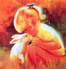 Quilting Panneau/Lapin/Child's Patch/Vintage/lin-coton/20 cm par 20 cm/Artisanat