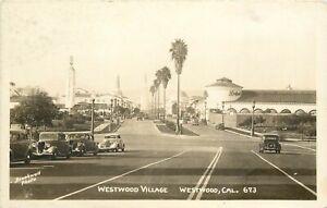 RPPC Postcard Westwood Village West Los Angeles CA Brookwell Photo 672 1930s