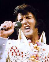 "ELVIS PRESLEY ""ALOHA FROM HAWAII VIA SATELLITE"" CONCERT 1973 8X10 PHOTO (FB-437)"
