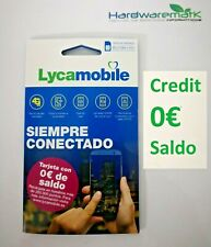 Card lycamobile lyca sim card credit $0 balance turn your name on your data