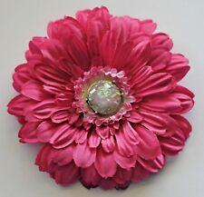 "5"" Fuchia Pink Gerbera Daisy Silk Flower Hair Clip Pinup Pin"