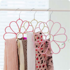 Sun Flower Colorful Velvet Scarves Hanger 13 holes Rotate Closet Organizer BDAU