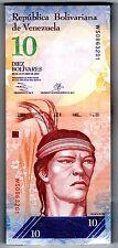 BUNDLE , 100 PCS ,100 BILLETS VENEZUELA 10 BOLIVARES 2013 P92  UNC NEUF
