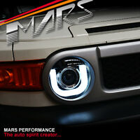 Black LED 3D DRL Dual Beam Projector Head Lights for Toyota FJ-Cruiser Headlight