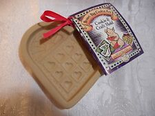 Brown Bag 1996 Heart Quilt Cookie Mold &Recipe Book New Old Stock Baking