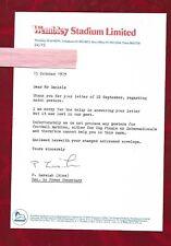 1979 Wembley Stadium letter on headed notepaper regarding exhibition
