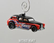 Cockney Cab Taxi British Flag Custom Christmas Ornament 1/64 Adorno London FX