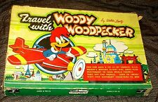 Orig Vtg 1956 Cadeco Ellis TRAVEL WITH WOODY WOODPECKER Board Game #218 Toy