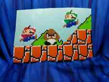 Super Mario Odyssey Bros Luigi Goomba Scene Perler Bead wall art video game