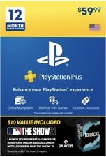 PlayStation Plus 12 Month & MLB the Show 21 Promo Pack Playstation +
