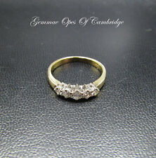 18K Gold 18ct Gold Graduated 5 Stone Diamond Ring Size O 1/2 3.7g 0.5 carats