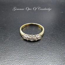 18K Gold 18ct gold Graduated 5 Stone Diamond Ring Size O 1/2 3.7g 0.5 carats
