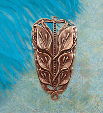 ANTIQUE COPPER Large Calla Lily Flower Stamping Art Deco Flower Connector E-561