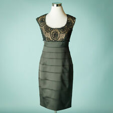 Tadashi 6 Black Dress Lace Layered Wedding Mother Formal Holiday Party