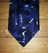 Honors Tie Silk Blue Navy Black White Marbled Shapes Design NIB t3996