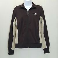 Puma Medium Track Jacket Sport Brown Beige Zip Up Athletic Wear Outdoors