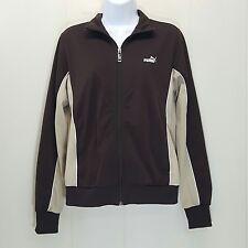 Puma MEDIUM Track Jacket Sport Brown Beige Zip Up Athleisure Wear Outdoors