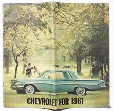 VINTAGE Chevrolet For 1961 Sales Dealership Brochure Includes Corvette