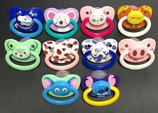 Adult Size printed Pacifier Available In 9 Print Options