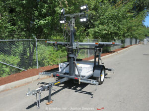 2017 Wanco WSLT-M Towable Portable Solar LED Light Tower 18,400 Lumens bidadoo