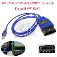 KKL VAG-COM 409.1 OBD2 USB Cable Auto Scanner Diagnostic Tool For Audi VW SEAT