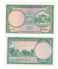 VIETNAM - SOUTH 1 DONG 1956 PICK# 1a UNC. CONDITION ( #847)